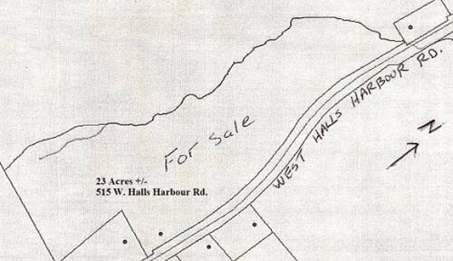 Plat Map of Halls Harbour Road Property